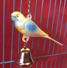 Bird Toy Plastic Budgie 3.5 Inch On Chain Bell Perch Buddy Colourful Interactive