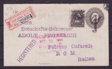 USA R-Brief Ganzsache 1904 New York nach Rom - Italien    s084