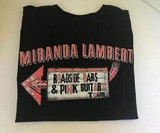 Miranda Lambert Roadside Bars Pink Guitars 2019 Tour T-shirt Local Crew M Black