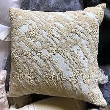 Donna Karan Rhythm Abstract Beaded Deco. Pillow