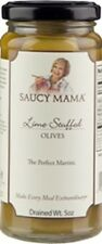 (Case of 6) Saucy Mama Lime Stuffed Olives