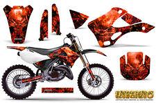 KAWASAKI KX125 KX250 99-02 GRAPHICS KIT CREATORX DECALS INFERNO R