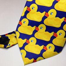 Fashion Casual Men Tie Hot TV Show Ducky Necktie Fancy Duck Pattern Yellow Tie