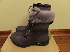 Size 5 UGG Womens Purple Leather Adirondack II Winter Boots Sheepskin (Youth 3)