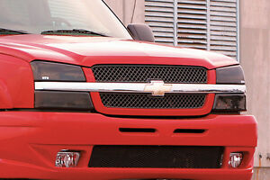 Fits 03-06 Chevrolet Silverado GTS Acrylic Smoke Headlight Covers Pair GT0256S