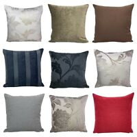 SET OF 4 - Chenille Xtra Thick Quality Luxury Fabric Cushion Covers 18x18""
