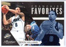 DERON WILLIAMS 2010-11 Prestige Franchise Favorites #25 ($.50 SHIPPING)