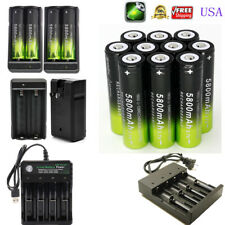 USA 18650 3.7V Li-ion Rechargeable Battery For Flashlight Torch LED Headlamp