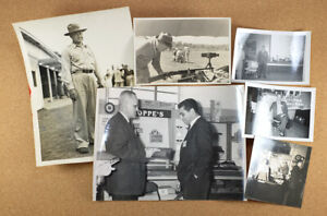 6 Original Vintage Photographs Frank A Hoppe Gun Cleaning from Company Archives