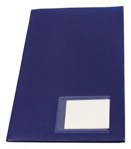 10x Angebotsmappen Präsentationsmappen Broschürenhefter zum Abheften blau