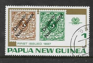 PAPUA NEW GUINEA 1973 Stamp on Stamp GERMAN NEW GUINEA 1v Single USED CTO