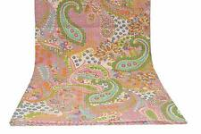 Paisley Printed Kantha Quilt Kantha Bedding Indian Cotton Bedspread Bohemian