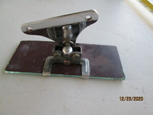 Vintage Rectangular Rearview Mirror with Mount Bracket 1920s 30s Beveled Glass