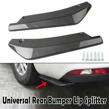 2Pcs Car Auto Rear Bumper Lip Diffuser Splitter Canards Carbon Fiber Protector
