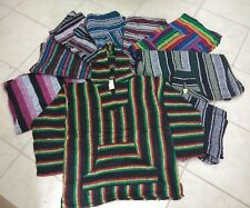 Wholesale Lot 20 pieces Assorted Baja Jacket Hoodie ,Poncho ,Drug Rug , L & XL