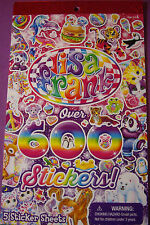 NEW LISA FRANK Peace Kiss Kittens Puppies Unicorn Sparkle 600+ pc. Sticker Book