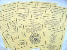 Set of 19 HALLOWEEN SAMHAIN BOS Pages for Book of Shadows wicca pagan grimoire