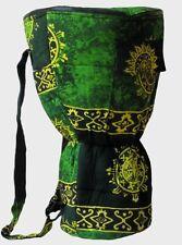 Djembe Bag, 26x15.5 Green Celestial Design, Padded Back Pack Style Drum Case