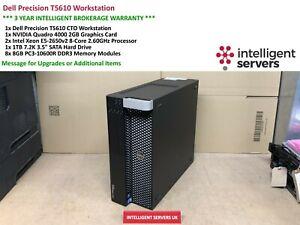 Dell T5610 Workstation, 2x Xeon E5-2650 V2 2.60GHz, 64GB, 1TB HDD, Quadro 4000