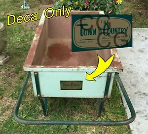 Vintage Town'n Country Garden Cart Decal Only