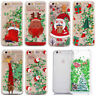 Christmas Glitter Quicksand Liquid Hard Back Case Cover For iPhone 8 6s 7 Plus X