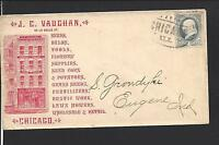 "CHICAGO, ILLINOIS COVER, 1CT GRAY BANKNOTE, ADVT FRONT & BACK  ""J.C. VAUGHAN."""