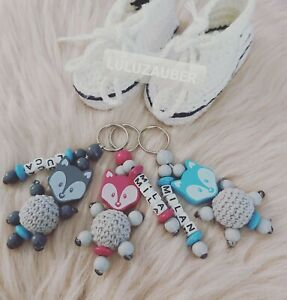 Schlüsselanhänger ❤️ mit Namen ❤️ Fuchs ❤️ versch. Farben ❤️ personalisiert ❤️