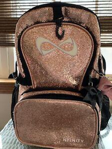 NFINITY ROSE GOLD MILLENIAL SUPER SPARKLE BACKPACK Cheer Back Back Bag Limited