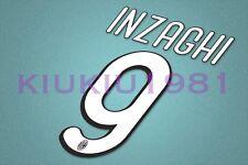 AC Milan Inzaghi #9 2009-2010 Homekit Nameset Printing