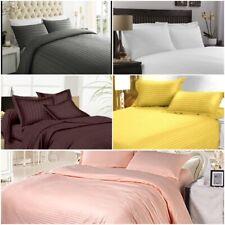 Bed Sheet Set 200 Thread Count 100% Cotton Sateen Stripped Soft Sheet