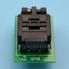 QFN8 IC Test Socket 6*5mm 1.27mm MLP8 MLF8 WSON8 Programming Adapter TO DIP8