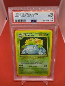 Venusaur 1999 Pokemon Game Base Set Holo 15/102 PSA 9 MINT