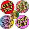 SANTA CRUZ Dot Logo Sticker / Skateboard Snowboard Surf - Assorted Styles