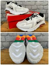 NIKE MENS AIR MAX 200 WHITE BLACK MULTICOLOURED HEEL TRAINERS T