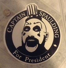 captain spaulding for president vinyl decal devils rejects house of 1000 corpses