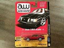 AUTO WORLD 1/64 DELUXE SERIES 1984 FORD MUSTANG SVO DIE-CAST CAR AW64051-B CHASE
