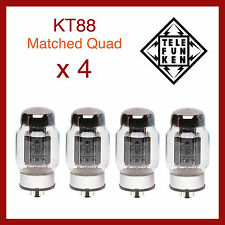 Telefunken Black Diamond KT88 Power Vacuum Tube - Matched Quad - 4 Pieces
