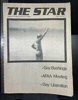 The Star vintage gay LGBT newspaper, December 1982, Sydney Australia, queer