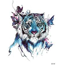 Water Colour King of the Forest Blue Emerald Butterfly Tiger Temporary Tattoo769