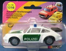 SIKU 1316 - POLIZEI Porsche 911 Turbo Autobahn-Streifenwagen - Neu - Modellauto