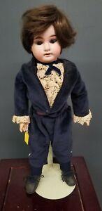 """ANTIQUE ARMAND MARSEILLE 1894 BISQUE COMPOSITION BOY DOLL 15"""""""