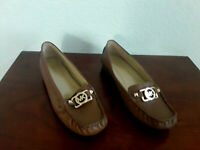 MK Michael Michael Kors women's shoes leather moccasin loafers brown 9.5 M