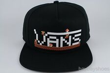 VANS NINTENDO MARIO SNAPBACK HAT ADJUSTABLE CAP BLACK/WHITE/RED SUPER ADULT NEW
