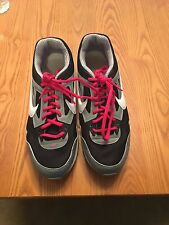 Ladies Nike Air Max tennis shoes black white pink gray 12 women's athletic