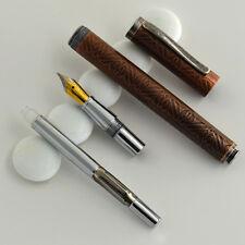 RARE Vintage HERO 395 Fountain Pen 0.5mm Bronze Rod F Fine NIB Smooth writing