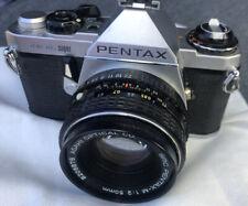 Pentax ME Super 35mm SLR Film Camera w/ 50 mm 8206878 Asahi Lens Kit Clean