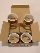 Toscany Snowman Napkin Rings Christmas Winter SET OF 4 by Lynda Sylvester w/Box