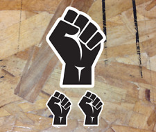 "BLM Black Lives Matter Fist Black Power Strength Sticker Decal Vinyl 4"" - 3for1"