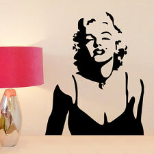 Marilyn Monroe Poster Bedroom Removable Wall Art Decals Sticker Mural Decoration