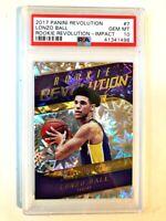 2017-18 Panini Revolution Impact Lonzo Ball Lakers RC Rookie PSA 10 GEM MINT